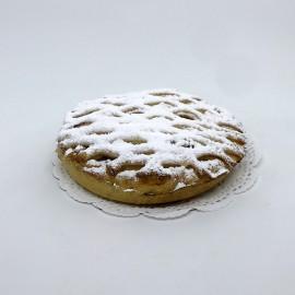 Petite tarte abricots treillée